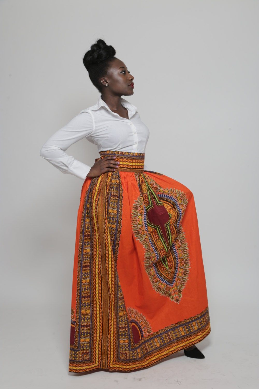 Dashiki Maxi Skirt Plus Size 14 24