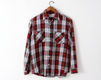 vintage 70s Big Mac plaid work shirt, vintage flannel