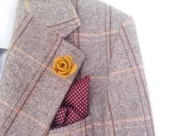 Men's flower lapel pins