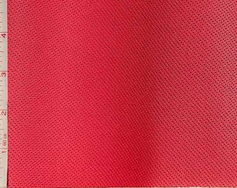 Red Mesh Knit Fabric 2 Way Stretch Polyester Silicon 6 Oz 58-60""