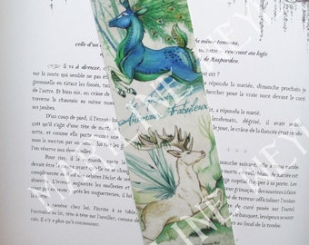 Bookmark DOE and stag Peacock
