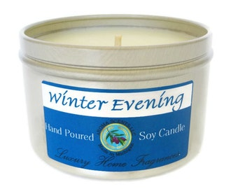 holiday candles - soy candles - Christmas candles - scented soy candles - November trends - candles in tins - 8 oz candle - Made in Michigan