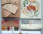 Sleepy Fox - Cross Stitch Kit