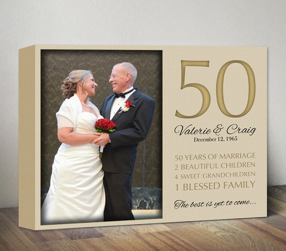 50th Anniversary Gift. 50th Wedding Anniversary Canvas Gifts ...
