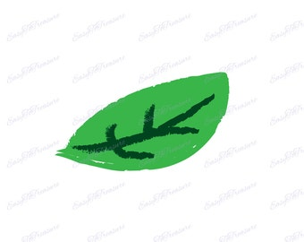 Digital Download Clipart - Light Green Foliage Leaf 21 JPEG and PNG files