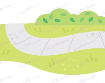 Digital Download Clipart - Light Green Grass with Concrete JPEG and PNG files