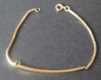 Vintage 12k Gold Filled Bracelet 7 inch x 1mm
