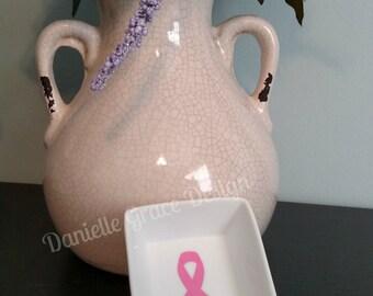 Cancer Awareness Ring Dish