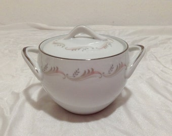 Style House Fine China Japan LEILANI Sugar Bowl with Lid and handles