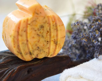 Pumpkin soap, gift for women, gift for her, wedding favors, Organic, Natural Soap, Handmade Soap, gift for wife, Homemade soaps, spa soap