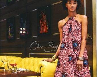 African Print Nuru Dress