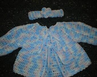 Girl's 3-6month lolliepop sweater set.
