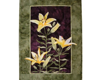 Wildfire Designs Alaska Lily Trinity Butter Lily Applique Quilt Pattern