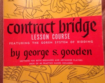 Contract Bridge Lesson Course Book - Featuring the Goren System of Bidding: The Magic Numbers in Point Count Contract Bridge Bidding, 1976