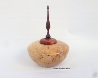 Pet Urn - Spalted Elm - Hollow Form