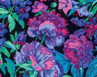 1/2 yard Voluptuous Black Philip Jacobs  fabric  PJ083