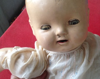 Reduced! Antique Baby Hendren composition doll