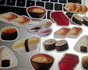 15 Stickers - Japanese Food