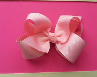 4 inch pink boutique hairbow