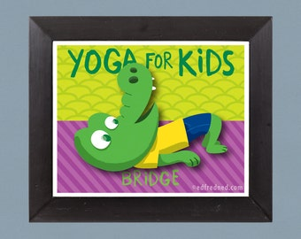 Bridge Pose: Yoga for Kids 8x10 Print