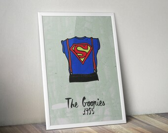 Classic The Goonies A3 print - framed or unframed choices available