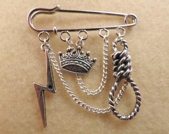 Shakespeare King Lear kilt pin brooch (50 mm)