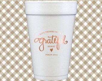 Thanksgiving Cups (Qty 12) - Grateful Heart
