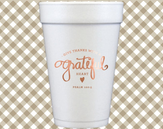 Thanksgiving Cups (Qty 12) - Grateful Heart