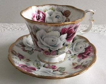 "Royal Albert Summer Bounty Series ""Pearl"" China Tea Cup & Saucer Pearl"