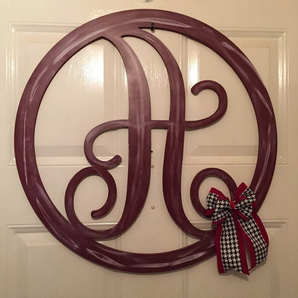 Monogram Door Decor Monogram Door Hanger Door Hanger
