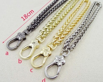 8mm wide 180mm length chains for purse,wrist chain