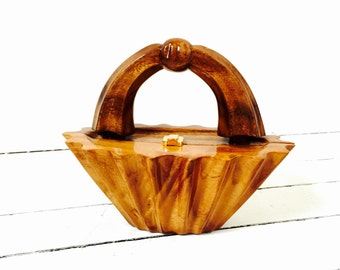 Avant Garde Timmy Woods BEVERLY HILLS Purse // Acacia Wood Bag