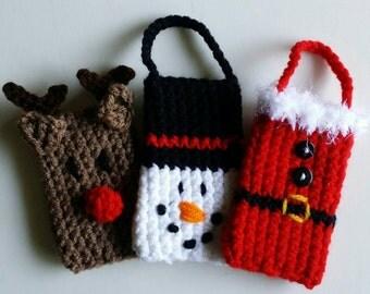 Crochet Christmas Gift Card Holders (3 Pack)