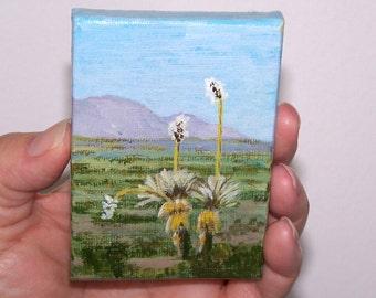 Desert Bloom ACEO Original landscape painting