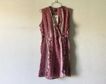 Vintage 80s Rose Floral Short Dress Romper