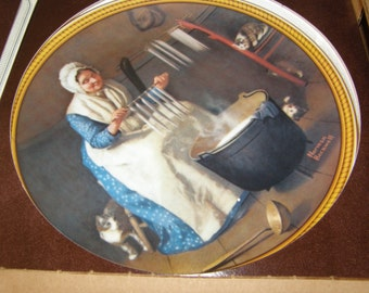 Rockwell's Colonials – Light for the Winter - Collector Plate w/ box & Certificate