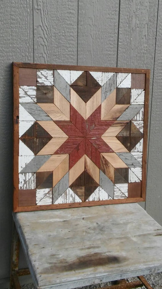 Salvaged Wood Barn Quilt Block Geometric By
