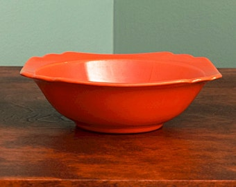 Riviera Red Pottery Oatmeal Bowl Homer Laughlin China Vintage Dishes