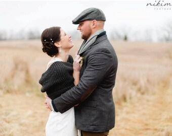 Wedding Bolero   Charcoal Bolero   Bridal Shawl/Shrug/Coverup/wrap   Wedding Accessories