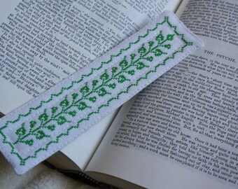 Cross Stitched Bookmark