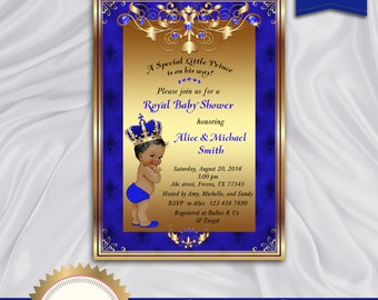 prince baby shower invitation little prince royal baby boy invitation african american