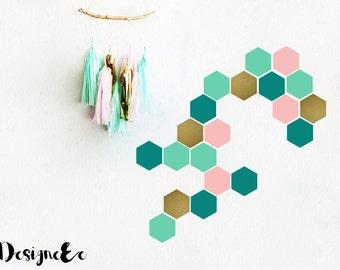 "Wall Stickers - 3.5"" Hexagon"