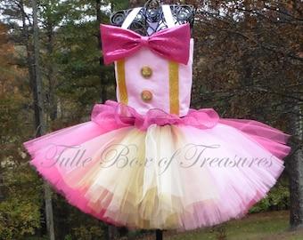 Gold and Pink Tutu Clown