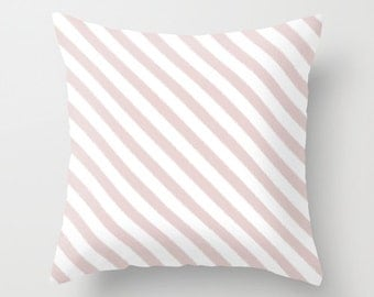 Pink Pillow, Velvet Cushion, Striped Pillow, Girls Room Decor, Pink Throw Pillow Cover, Striped Cushion Cover, Velvet Pillow, 18x18, 22x22