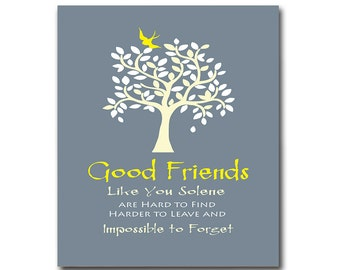 Good Friends Gift, Thank You for Being a Friend, Birthday Gift, Moving Away Gift, Personalized Wall Decor Any Color Available