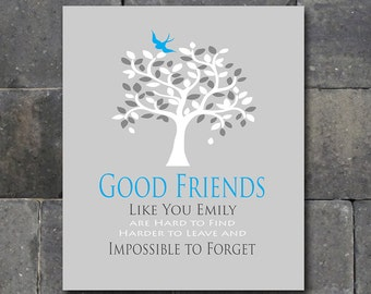 Best Friend Gift - Personalized Thank You for Being a Friend - Birthday Gift - Moving Away Gift - Any Color Available