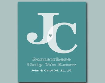 Family Name Sign - First Anniversary Gift - Wedding Gift - Add any Wording of Your Choice - Available in Any Color