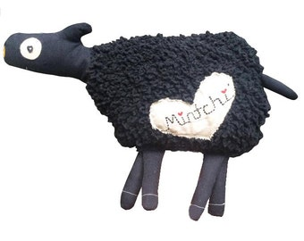 Black Sheep, Black Sheep Softie, Black Sheep Toy, Plush Black Sheep, Sheep Softie, Sheep Toy