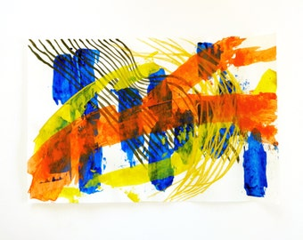 Original Painting // Acrylic Painting // Abstract Art // Painting on Paper // Mixed Media