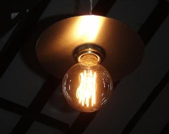 Aluminium Light shade.Handmade.Modern light.Flat shade